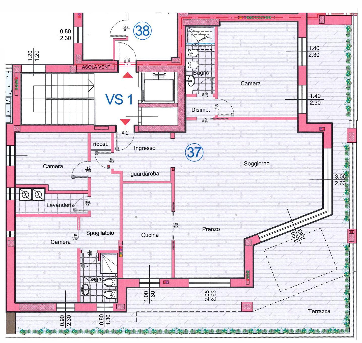 Appartamento in Vendita a Verona Semicentro Nord: 5 locali, 205 mq