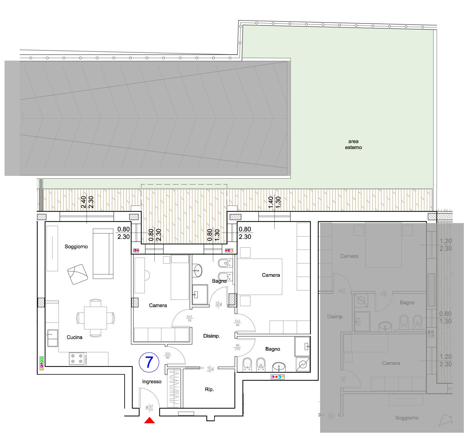 Appartamento in Vendita a Verona Semicentro Nord: 3 locali, 158 mq