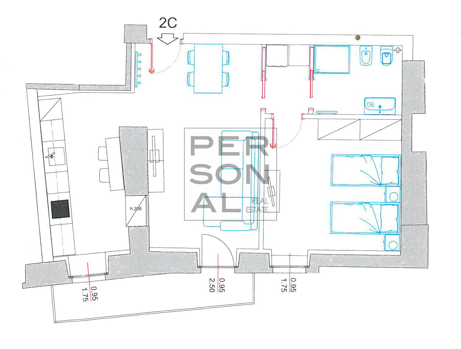 Appartamento in Affitto a Trento - Cod. XP-AFF-2C