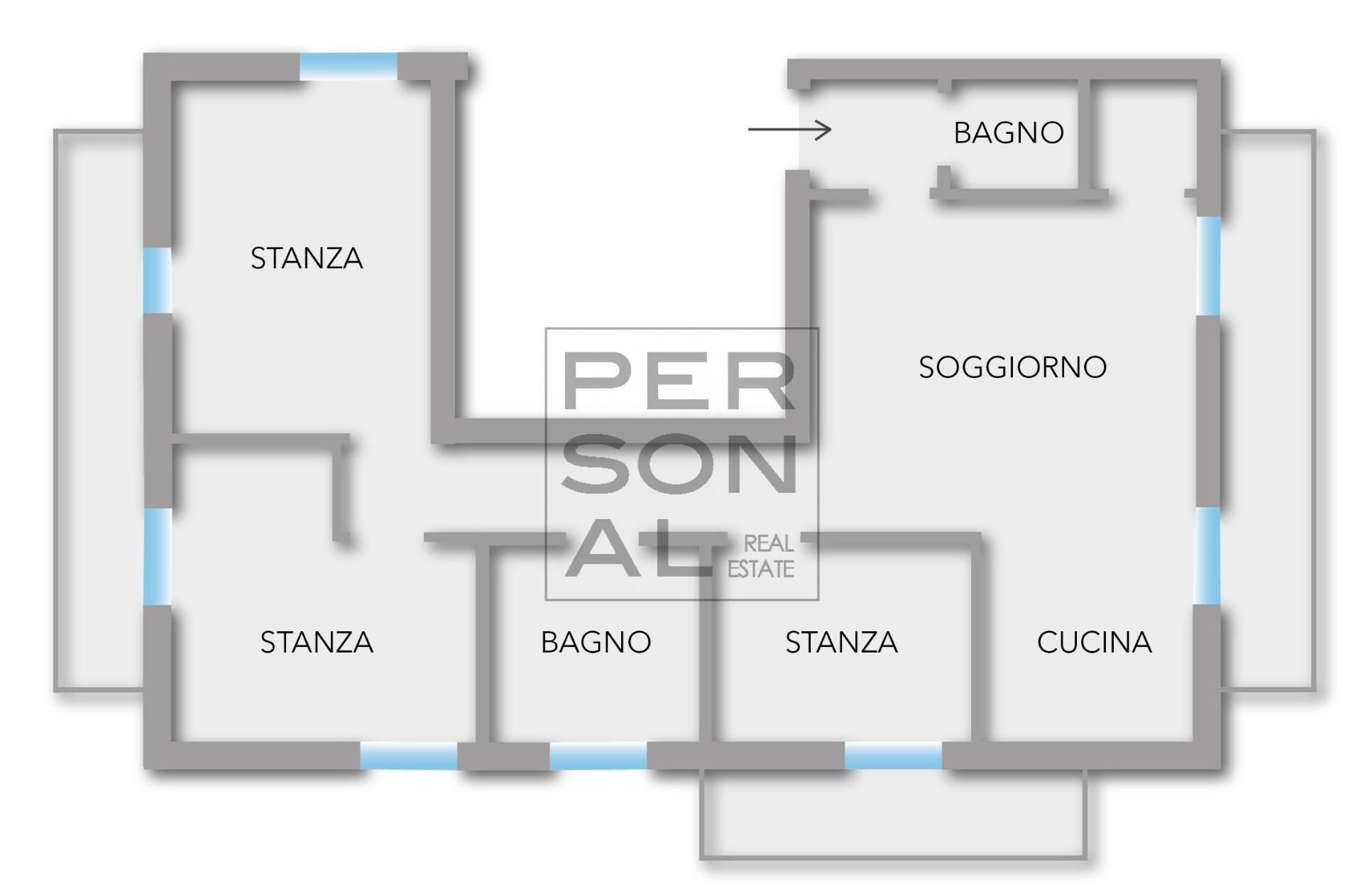 Appartamento in vendita a Roncegno Terme, 4 locali, prezzo € 185.000 | CambioCasa.it