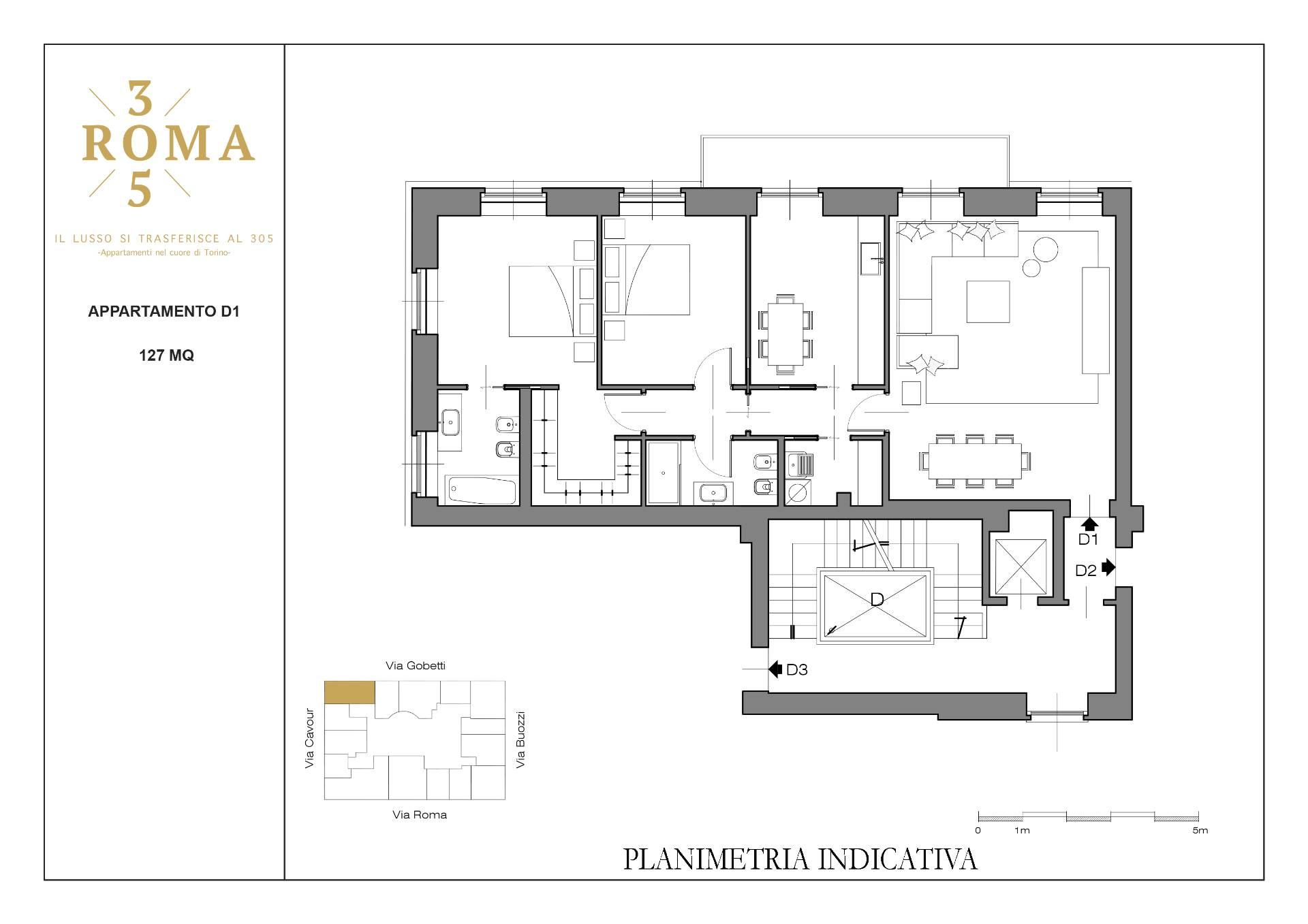 Progetto Appartamento 50 Mq appartamento in vendita a torino cod. d1