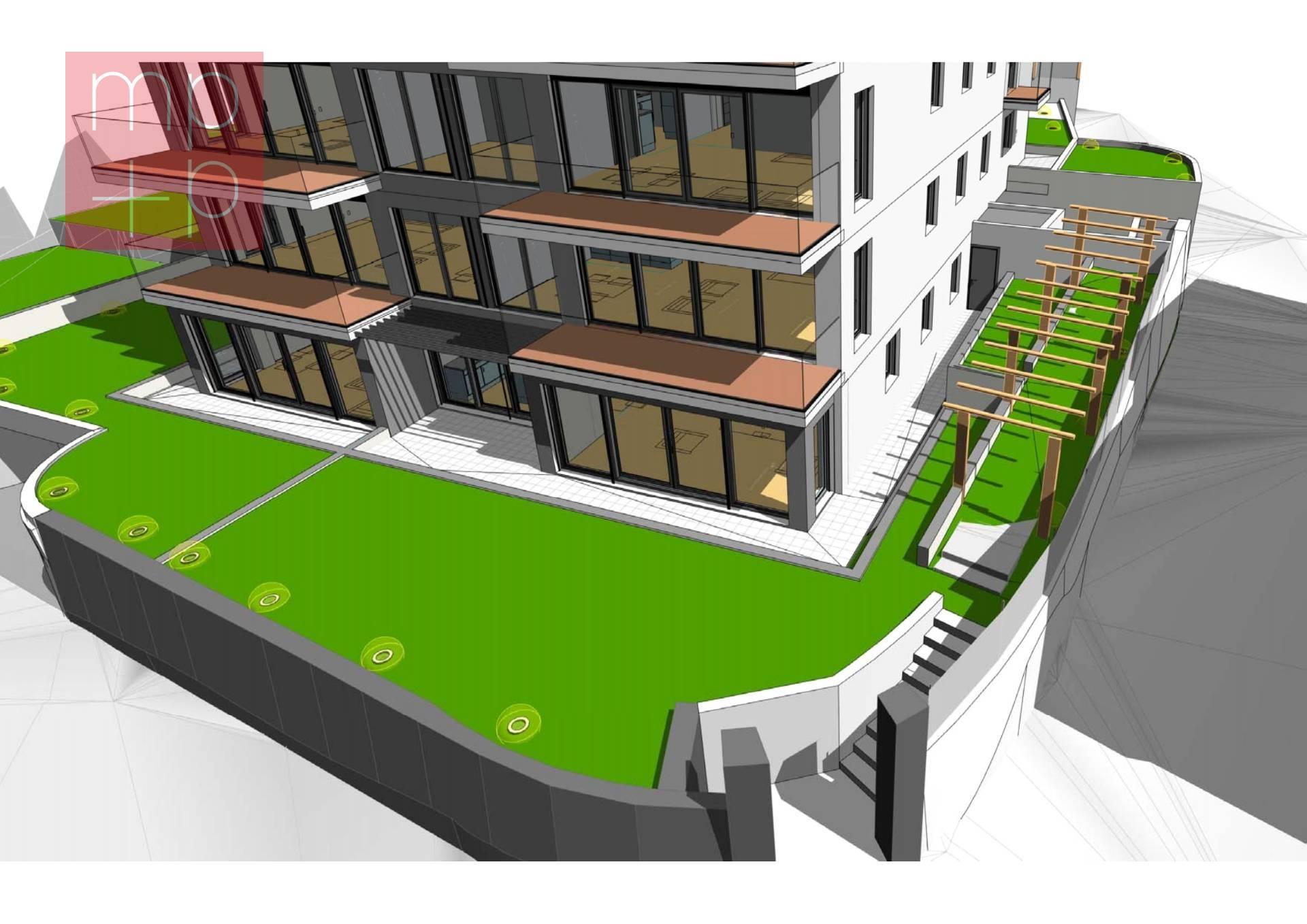 Appartamento con Giardino in Vendita a Massagno